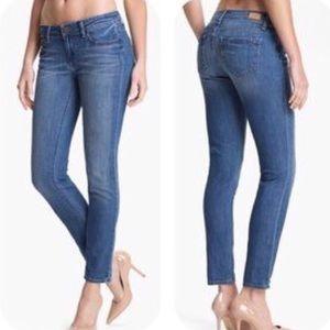 PAIGE Peg Skinny Medium Wash Jeans